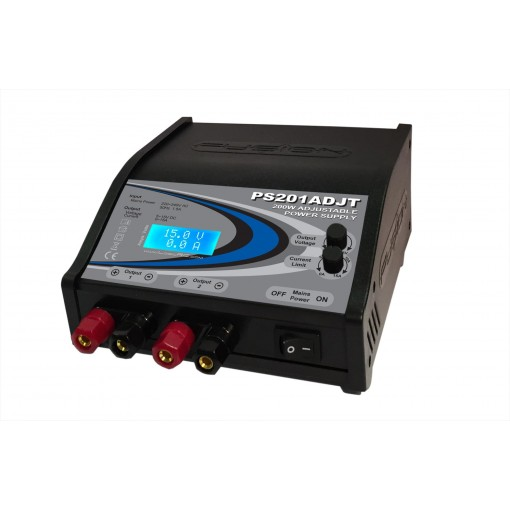 Fusion 200W 5-15V Twin Output Adjustable Power Supply PS201ADJT