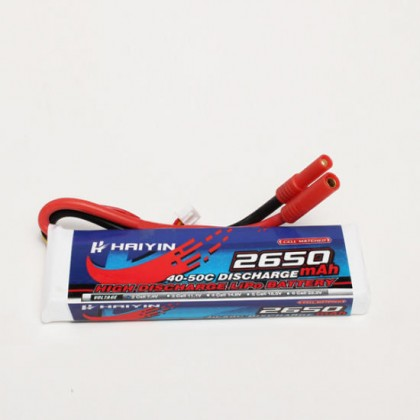 Haiyin - 2S 2650mAh 7.4v 40-50C High Discharge LiPo Battery
