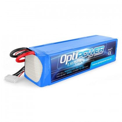 Optipower LiPo Battery 4000mAh 6S 50C OPR40006S50