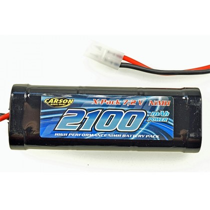 Carson Model Sport 7.2v 2100mAh Nimh battery with Tamiya Connector