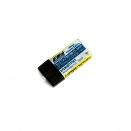 E-Flite 300mAh 1S 3.7v 25C LiPo Battery EFLB3001S25