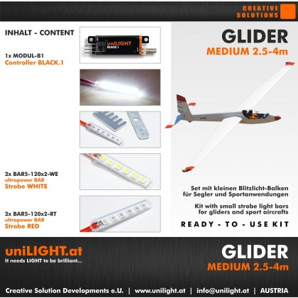 UniLight Glider Medium Lighting Set