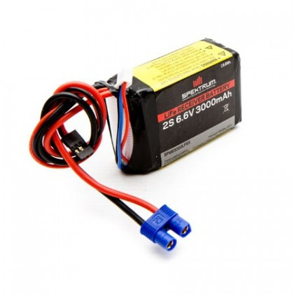 Spektrum 3000mAh 2S 6.6volt Li-Fe Receiver Battery SPMB3000LFRX