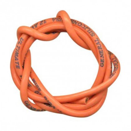 TrickBits 12AWG Fluorescent Orange Silicone Wire (2.5ft) TB2074FO