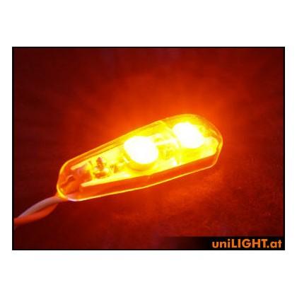 UniLight 8W x 2 Flashlight 11mm Short T-Fuse RED PRO11XF-080x2-RT