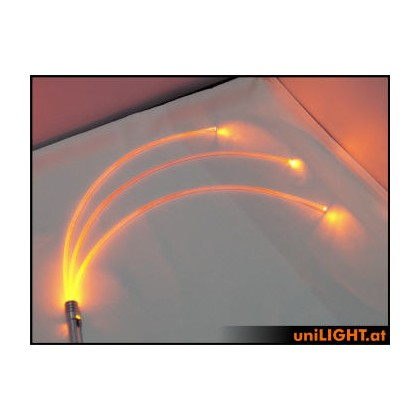 UniLight 4W Glow Fiber 3mm Red