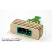 Emcotec 8 Pin Plug Wooden Plug Housings 2 pieces A85017
