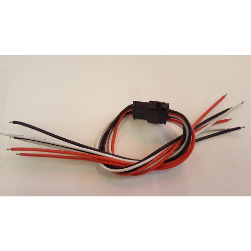 6 Wire Ash-lock Style Connectors for Servos & Lights