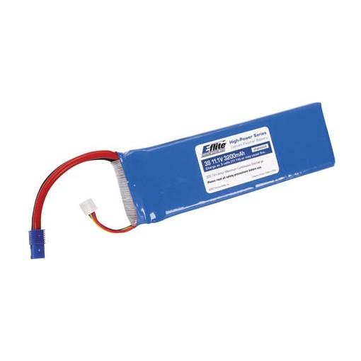 E-Flite 3200mAh 3S 11.1v 20C LiPo With EC3 Connector EFLB32003S