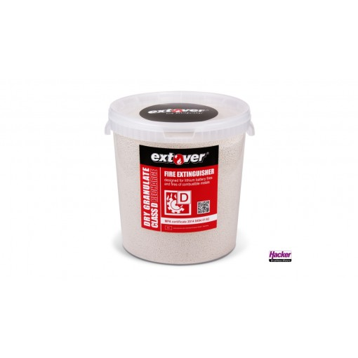 Extover® - Fire protection and Fire-extinguishing granules for Lithium Batteries in 33L Bucket