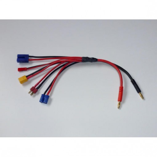 5x Multi Charge Lead made with 12 & 14 AWG Silicone Wire from Electriflyer