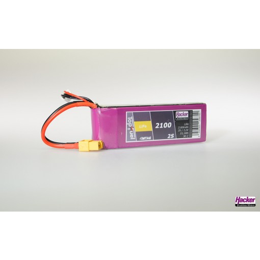 Hacker TopFuel LiFe Battery 2S 2100mAh MTAG With XT60