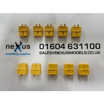 10 Pack XT60 Connector Female Battery Side