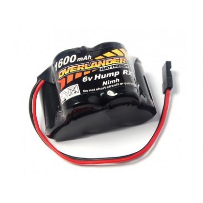 Overlander NiMH Battery Pack 2/3 AF 1600mah 6v RX Hump 419