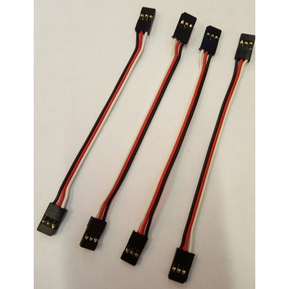 Futaba Male Male Servo Patch Lead ideal for Gyro's 100mm