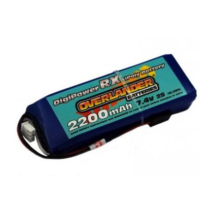 2200mAh 2S 7.4v LiPo Battery Receiver Pack - Overlander Digi-Power
