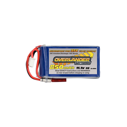 Overlander 850mAh 3S 11.1v 35c Supersport Pro Lipo battery
