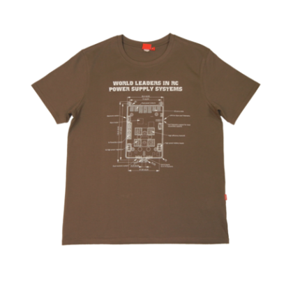 Powerbox T-Shirt - Light Brown Medium