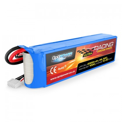Optipower Ultra Racing Drone Pack 2300mAh 4S 14.8V 50C OPR23004S50