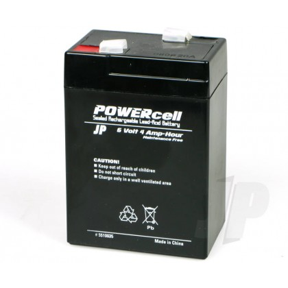 J Perkins 6V 4Ah Powercell Gel Battery 5510035