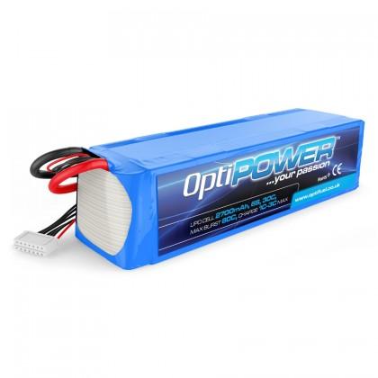Optipower LiPo Battery 2700mAh 6S 30C OPR27006S
