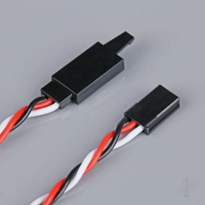 Radient Futaba Twisted HD Extension Lead with Clip 500mm RDNAC010234