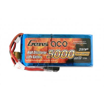 Gens Ace LiPo 2S 7.4V 5000mAh Rx with Futaba G2S5000-RX