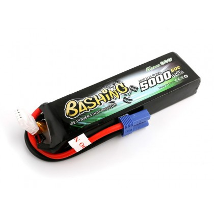 Gens Ace LiPo Car 3S 11.1V 5000mAh 50C Bashing with EC5 GC3S5000-50E5