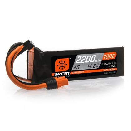 Spektrum 2200mAh 4S 14.8V 100C Smart LiPo Battery IC3 SPMX22004S100
