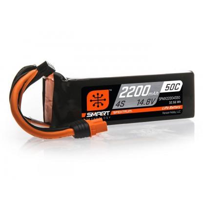 Spektrum 2200mAh 4S 14.8V 50C Smart LiPo Battery IC3 SPMX22004S50