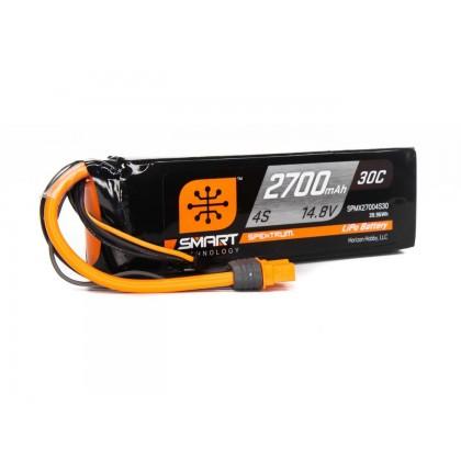 Spektrum 2700mAh 4S 14.8V Smart LiPo Battery 30C; IC3 SPMX27004S30