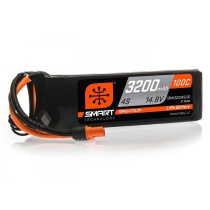 Spektrum 3200mAh 4S 14.8V 100C Smart LiPo Battery IC3 SPMX32004S100