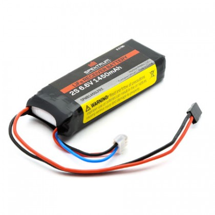 Spektrum 1450mAh 2S 6.6volt Li-Fe Receiver Battery SPMB1450LFRX