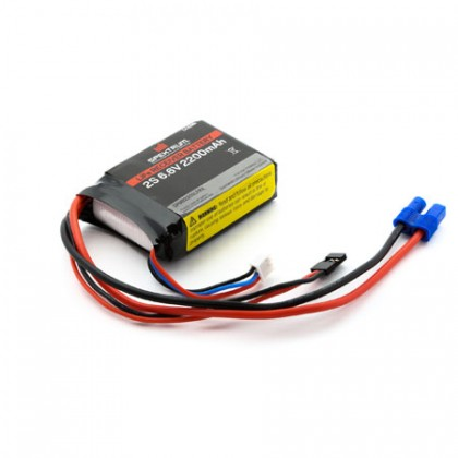 Spektrum 2200mAh 2S 6.6volt Li-Fe Receiver Battery SPMB2200LFRX