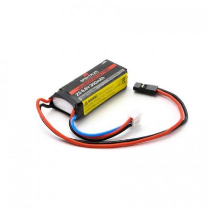 Spektrum 300mAh 2S 6.6volt Li-Fe Receiver Battery SPMB300LFRX