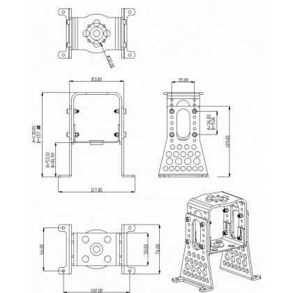 Hacker A60 Aluminium Motor Mount Set Complete 15727618
