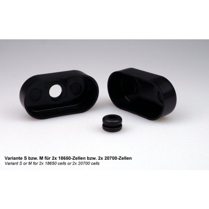 Battery End Caps S: Suitable for 2x 18650 cells from Emcotec A43100