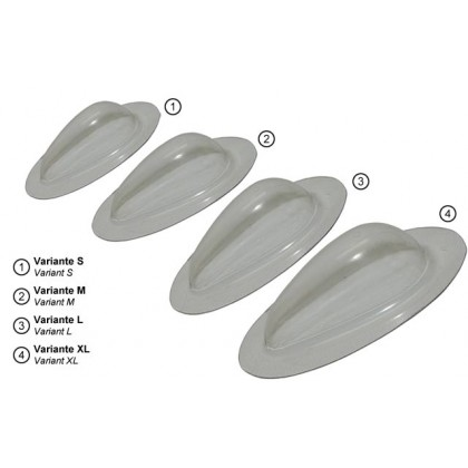 Emcotec Cover Cap Drop-Shaped Paintable L (32mm) OPT4430