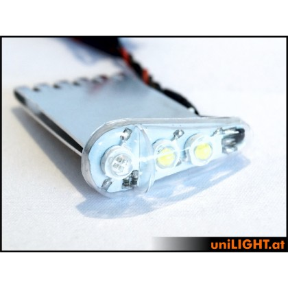 UniLight 24Wx2 Navigation & Strobe, x2, T-Fuse, 18mm Green-White DUAL18F-240x2-GNWE