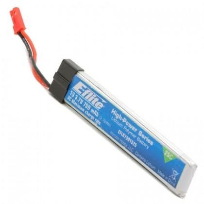 E-Flite 750mAh 1S 3.7v 25C LiPo Battery EFLB7501S25