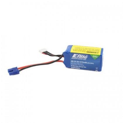 E-Flite 22.2V 6s 910mah Lipo Battery EFLB9106S30