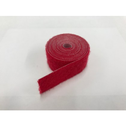 Velcro Strap Endless loop 20mm x 50cm (Red)