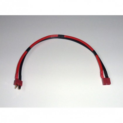 Deans Extension Lead 0.5m Long 12AWG Silicone Wire from Electriflyer