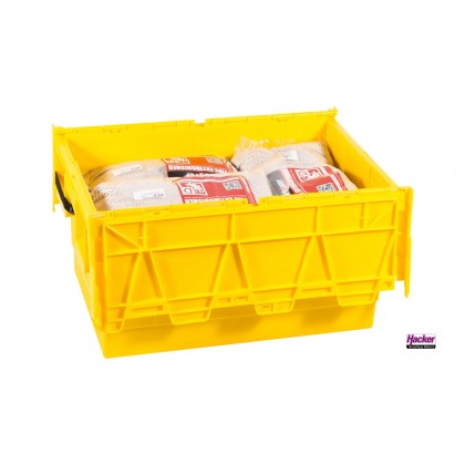 Extover® - Fire protection and Fire-extinguishing granules for Lithium Batteries in Plastic Box 45L