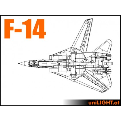 F-14 Tomcat 1:7 Scale Pro Bundle Scale Light Set from Unilight Model Lighting