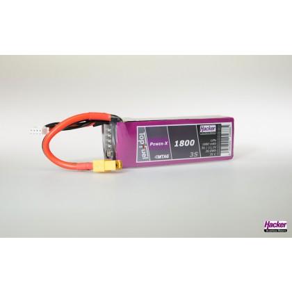 Hacker TopFuel 3S Power-X 1800mAh MTAG LiPo Battery 91800361