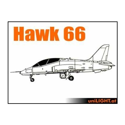 Hawk 66 1:4 ~2.5m Wingspan Professional Lighting Set from Unilight BND-HAWK66-4-P