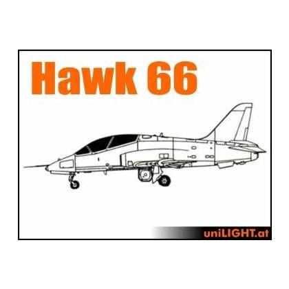 Hawk 66 1:4 ~2.5m Wingspan Professional Lighting Set from Unilight BND-HAWK66-4-P