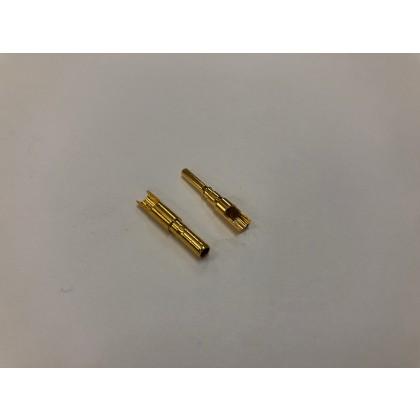 2mm Gold Bullet Connector Set (Easy Solder) - 1 Pair