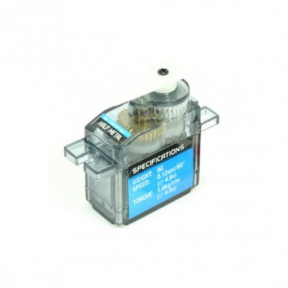 Etronix 9g 1.6kg/0.12s Micro Servo With Half Metal Gears ET0005HM 5055323959660